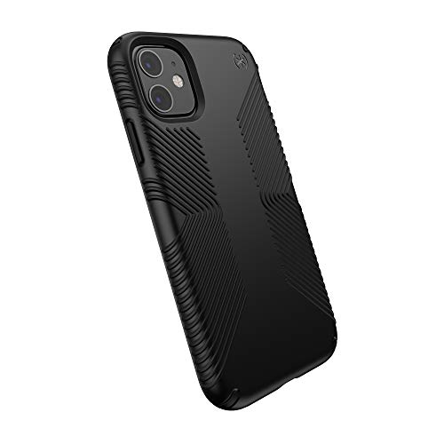 Étui de téléphone compatible Speck Products pour Apple iPhone 11, étui Presidio Grip, noir / noir