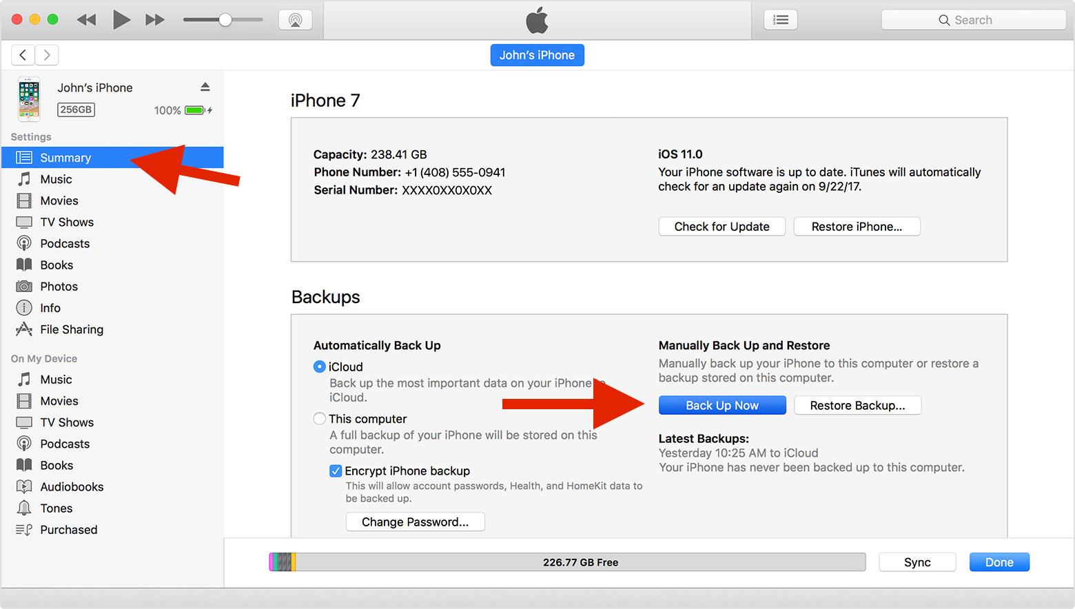 Sauvegarder les données de jeu iPhone
