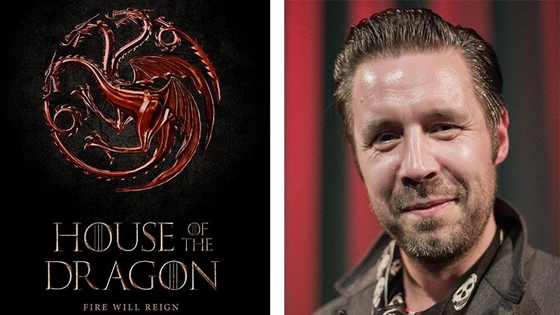 Affiche House of the Dragon et l'acteur Paddy Considine