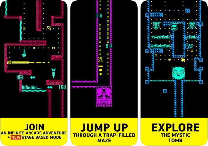 Tomb of the Mask Capture d'écran du jeu d'arcade pour iPhone et iPad