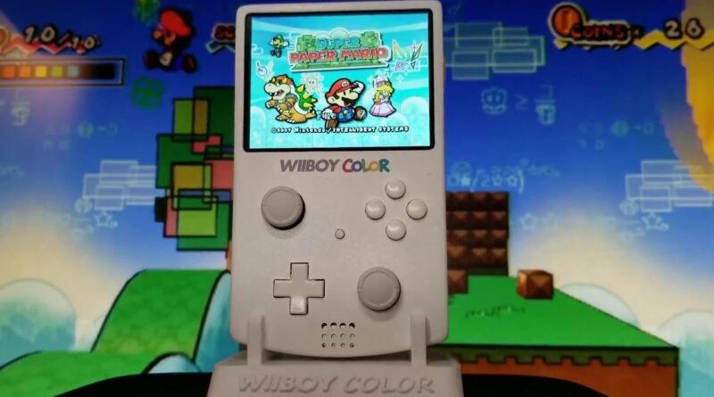 Nintendo Wii rendu portable dans un mod Game Boy Color