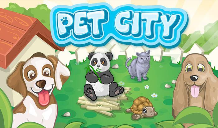 Capture d'écran de l'application Pet City pour iPhone et iPad
