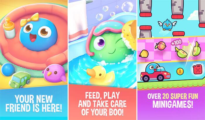Capture d'écran de l'application My Boo Virtual Pet pour iPhone et iPad