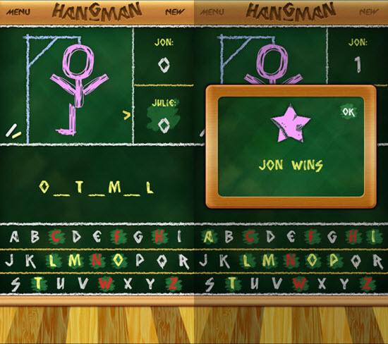 Hangman 4.5 / 2.1K # 72 est l'un des 10 meilleurs jeux à 2 joueurs pour iOS.