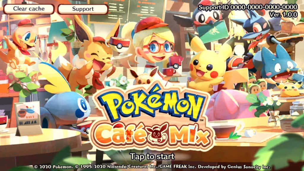 Pokémon Café Mix Game Mobile