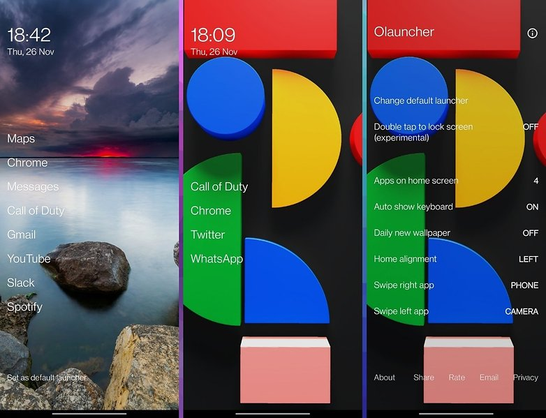 5 applications semaine 48 olauncher 1