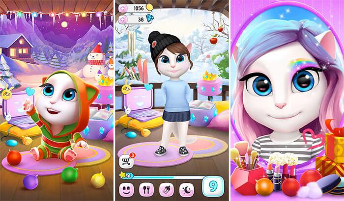 Capture d'écran de l'application My Talking Angela pour iPhone et iPad