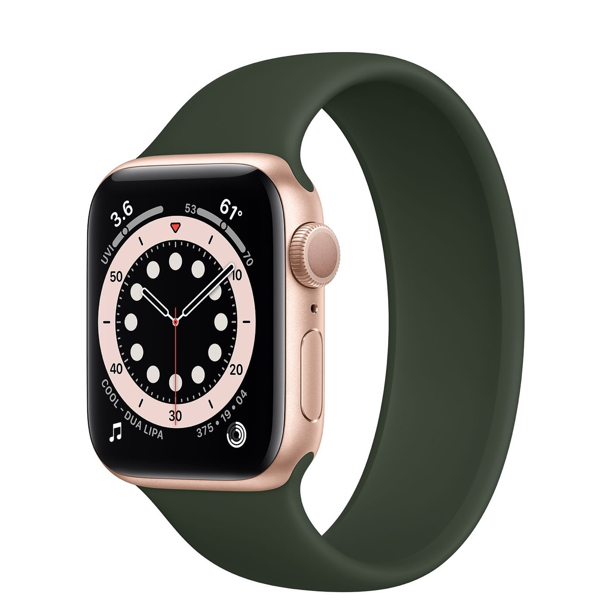 apple watch series 6 avec bande verte