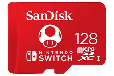 Carte MicroSDXC SanDisk pour Nintendo Switch (128 Go)