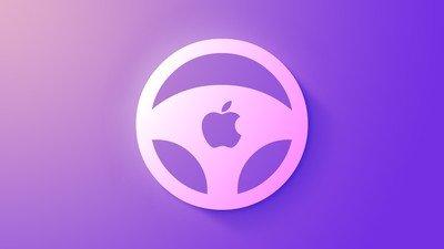 Icône de roue de voiture Apple pourpre