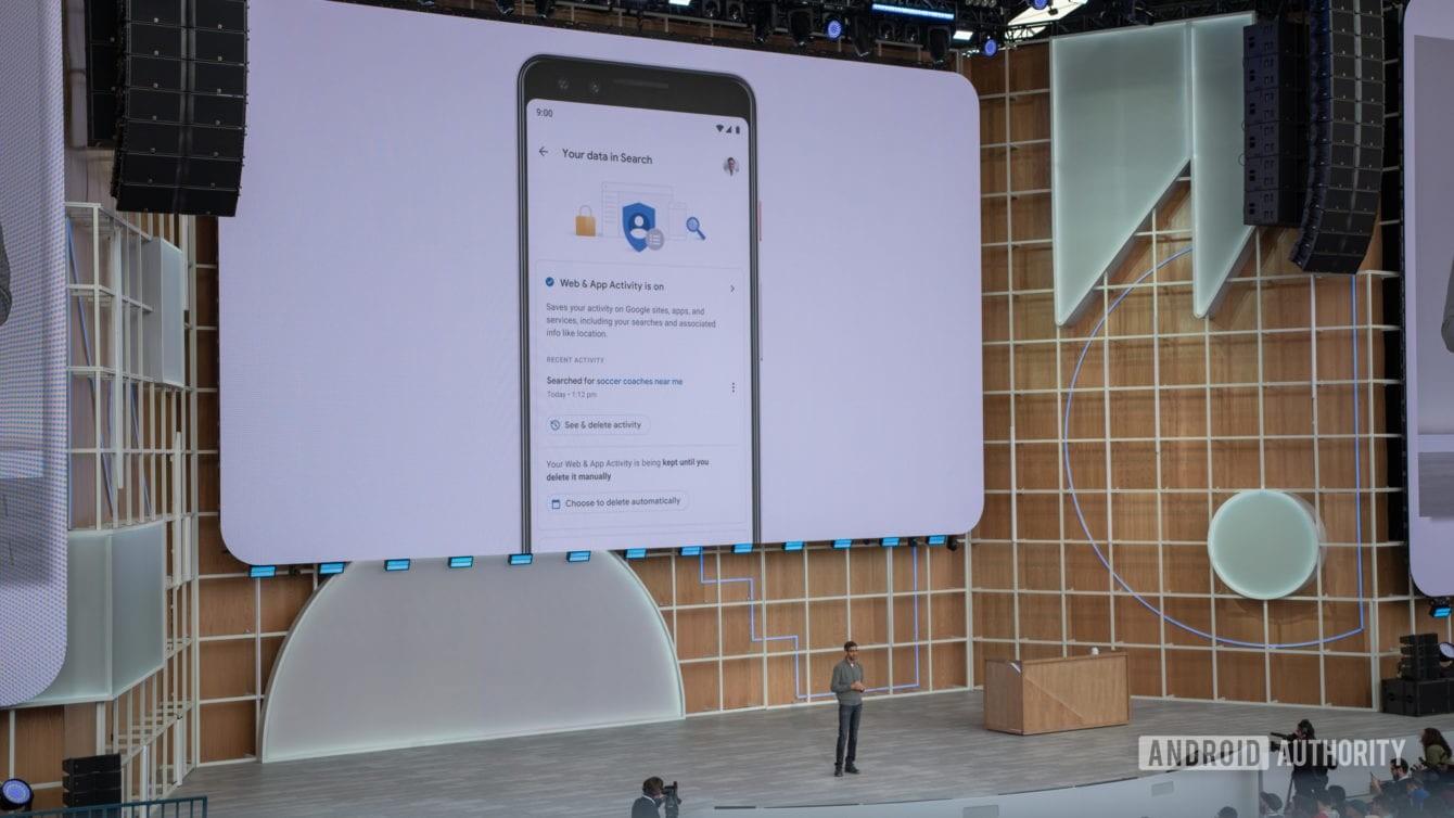Contrôles de confidentialité de Google I / O 2019