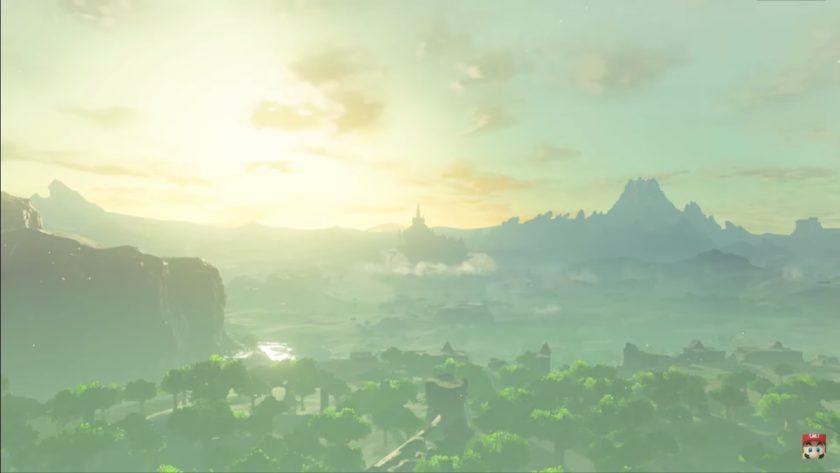 La légende de Zelda Breath of the Wild suite montrant Hyrule.