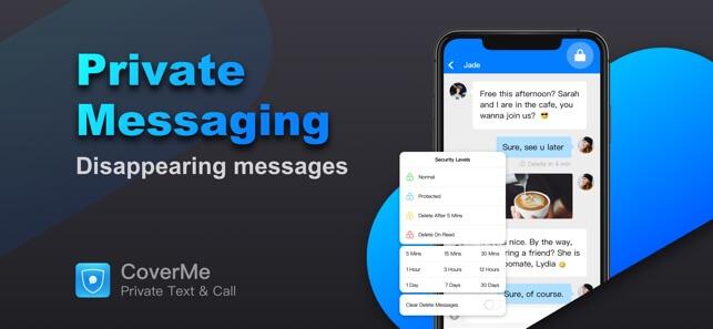 Messagerie texte privée CoverMe