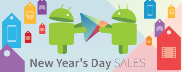 36 applications et jeux temporairement gratuits et 73 en vente pour le jour de l'An