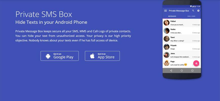 Boîte SMS privée