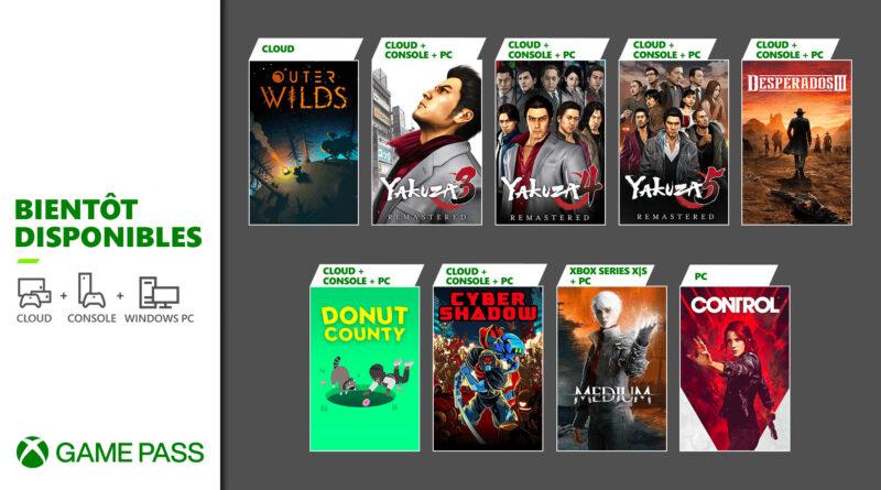 Prochainement dans le Xbox Game Pass : Yakuza Remastered Collection, The Medium et d'autres
