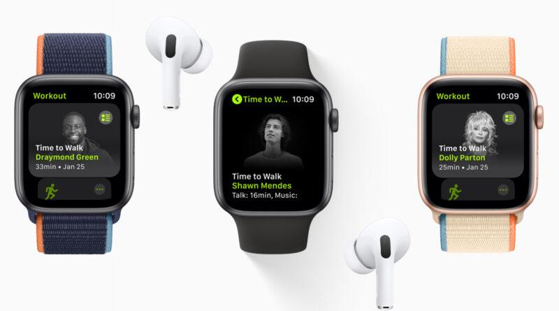 Apple Fitness + Time to Walk propose des podcasts originaux de célébrités sur Apple Watch