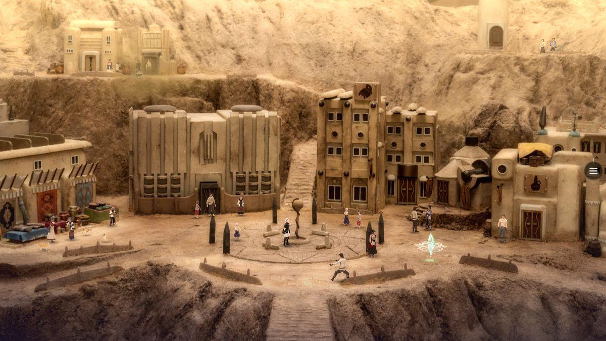 Une ville du désert en fantasme