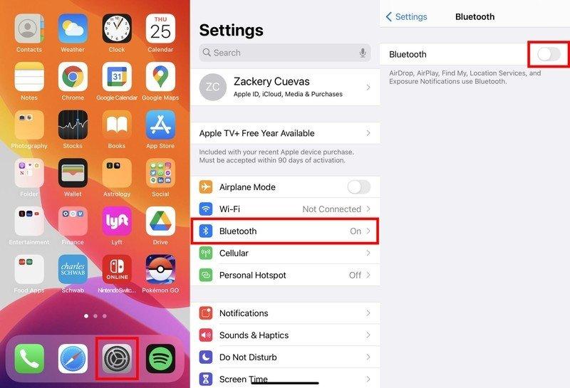 Comment utiliser une manette Xbox One ou Series X | S avec iPhone ou iPad: sur votre iPhone ou iPad, accédez à vos paramètres, dirigez-vous vers Bluetooth, activez-le.