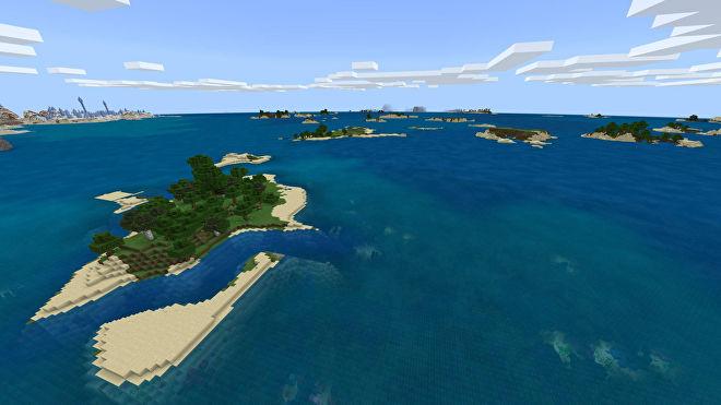 Une capture d'écran Minecraft Bedrock d'un nouveau monde créé avec la graine 1994462800.