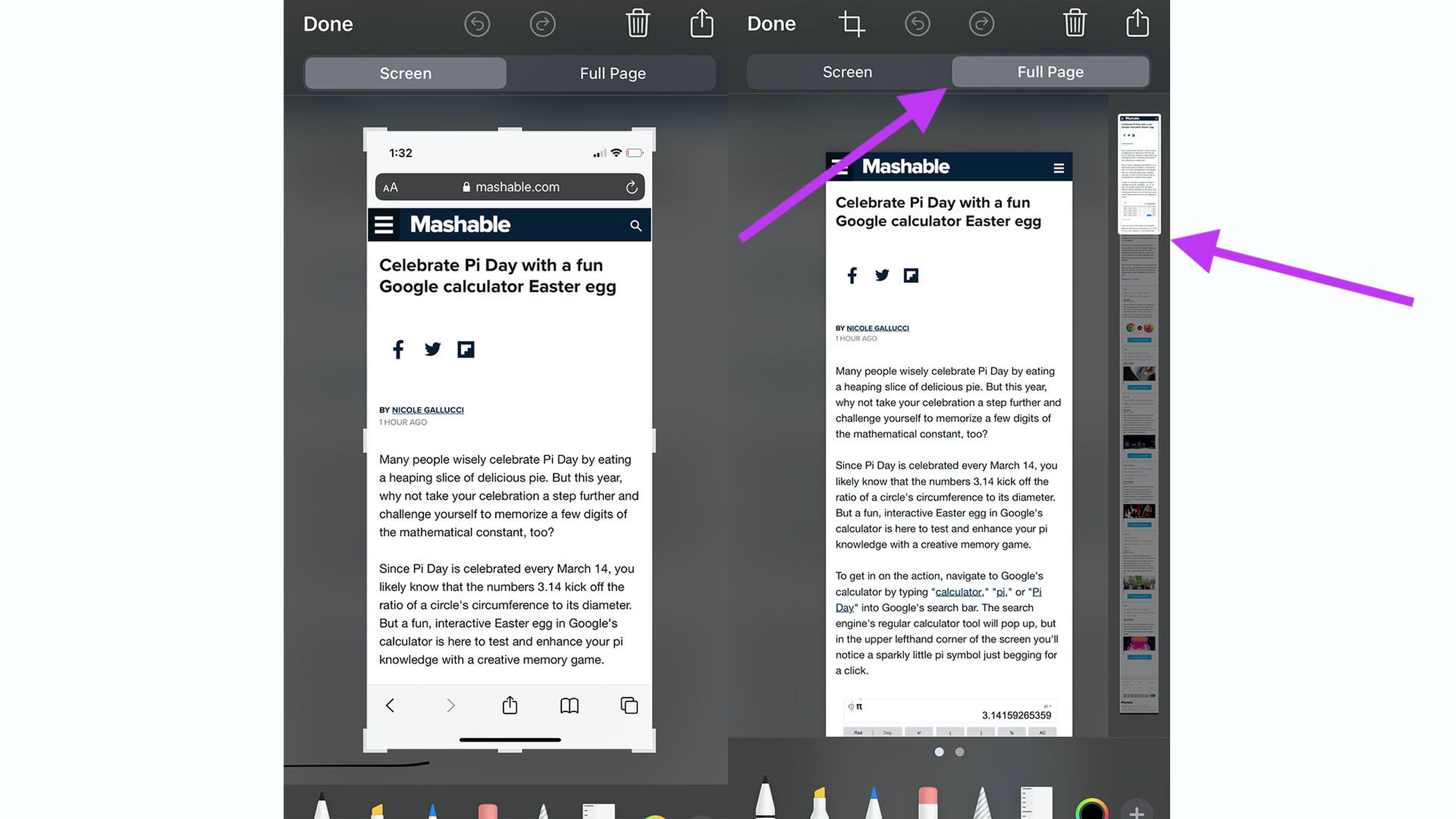 Les utilisateurs de TikTok apprennent aux propriétaires d'iPhone comment capturer une page Web entière