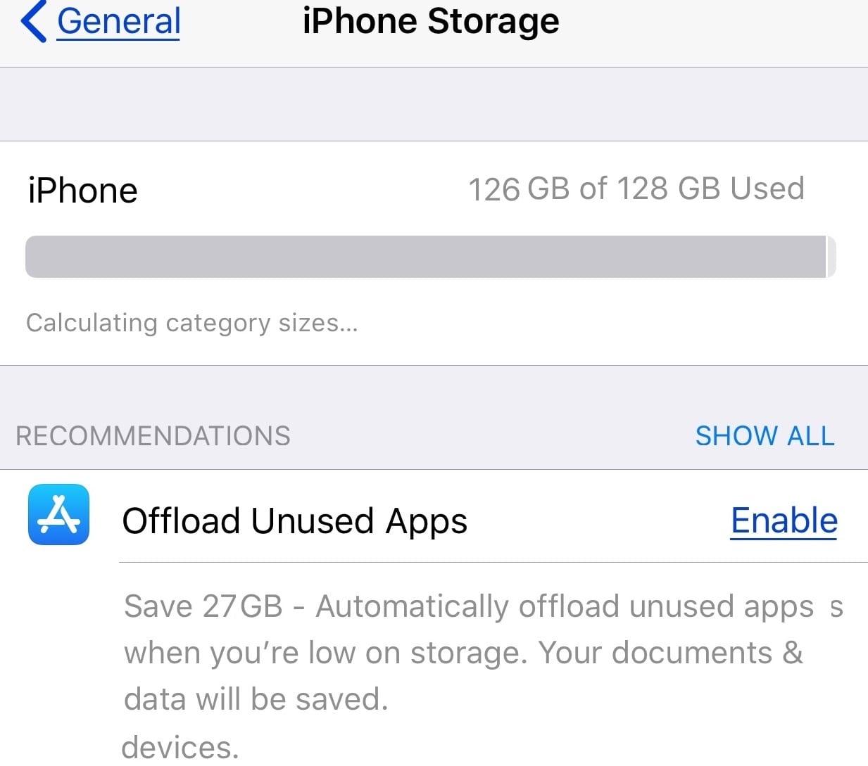 Décharger les applications inutilisées iPhone