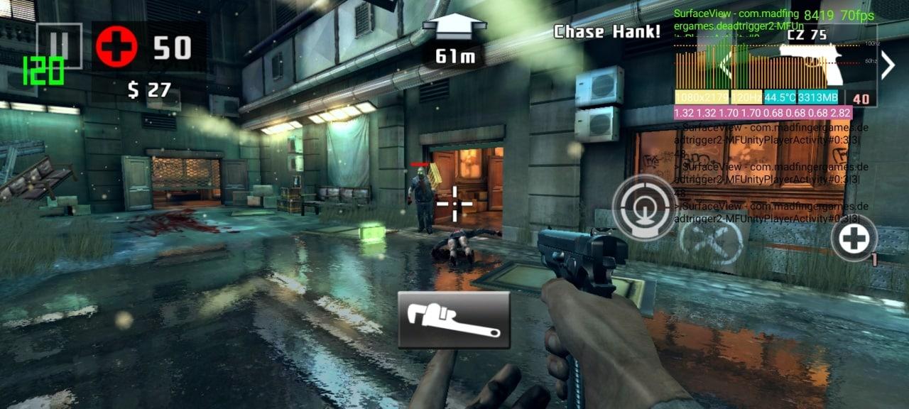 Une capture d'écran de gameplay de Dead Trigger 2