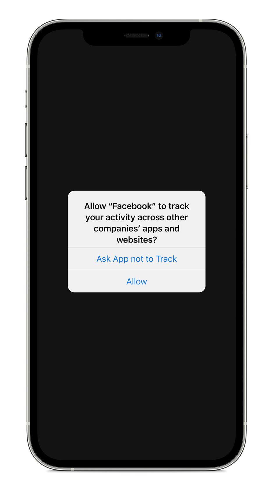La nouvelle fonctionnalité de confidentialité d'iPhone d'Apple, ATT, oblige Facebook à demander à suivre.