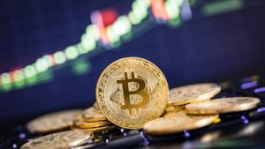 image de bitcoin pour représenter les actions de crypto-monnaie