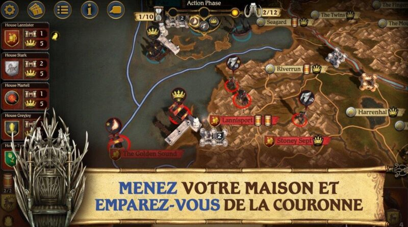 A Game of Thrones: Board Game disponible sur l'App Store