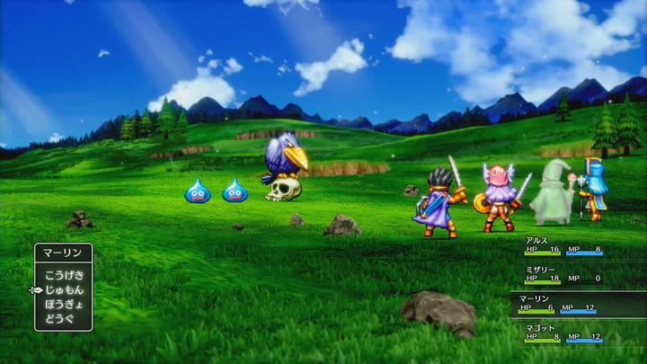 Les graphismes stylisés du remake de Dragon Quest 3 2D-HD.