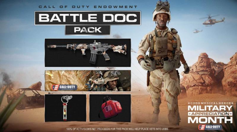 Le nouveau pack Call of Duty Battle Doc donne 100% des bénéfices aux vétérinaires