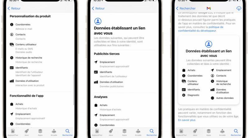 Google va ajouter des étiquettes de confidentialités sur le Play Store