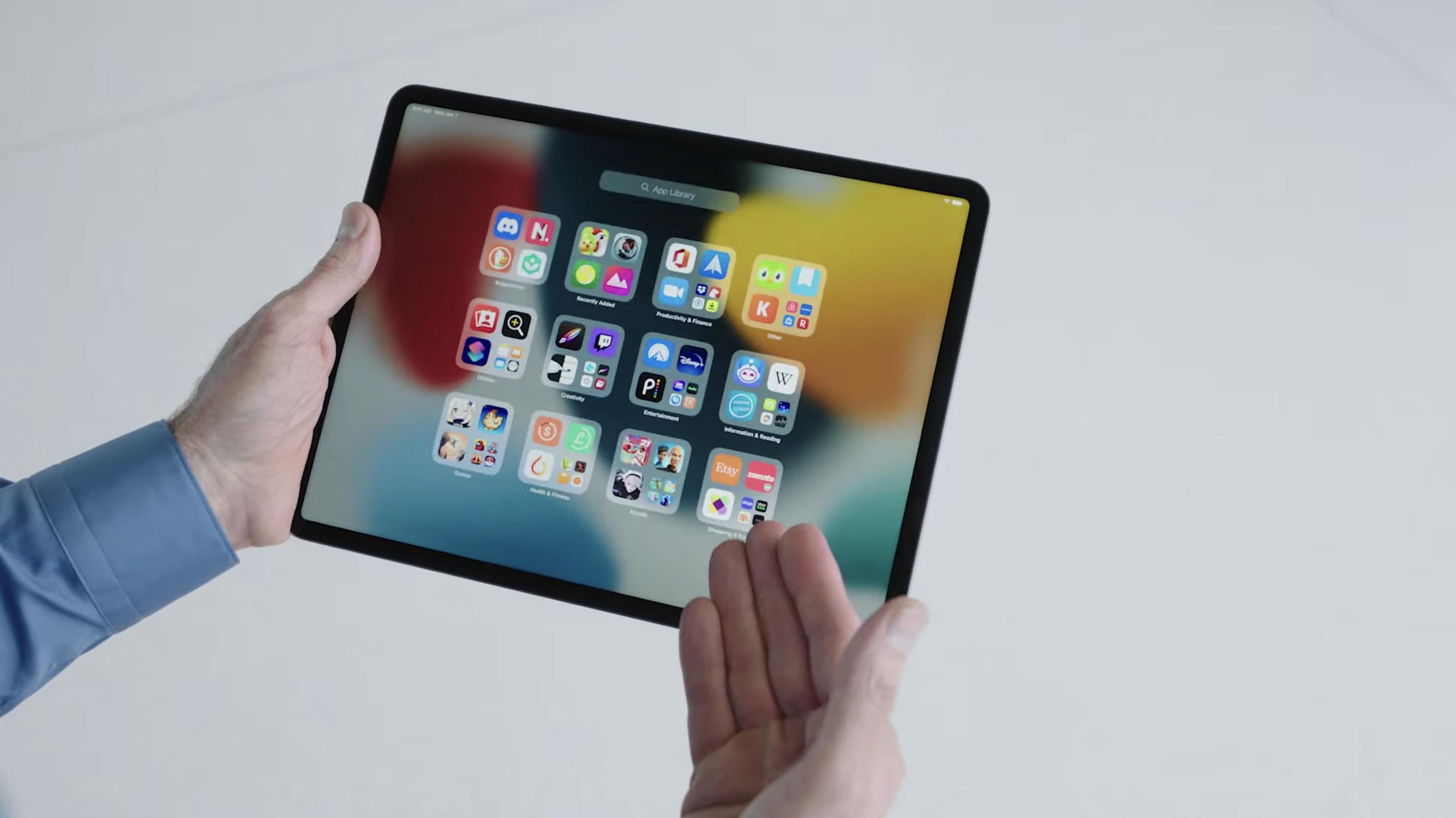 Bibliothèque d'applications iPadOS 15