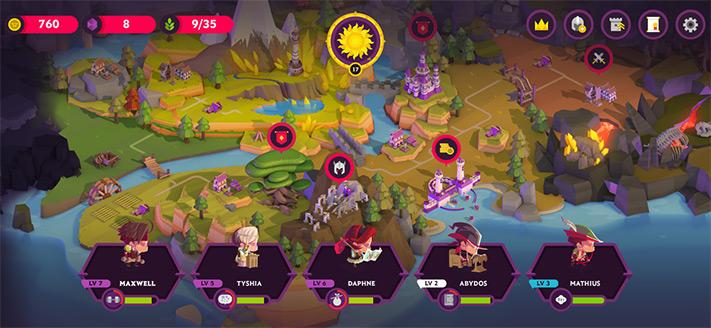 Kings League II Apple Arcade Jeu de rôle pour iPhone, iPad et Apple TV