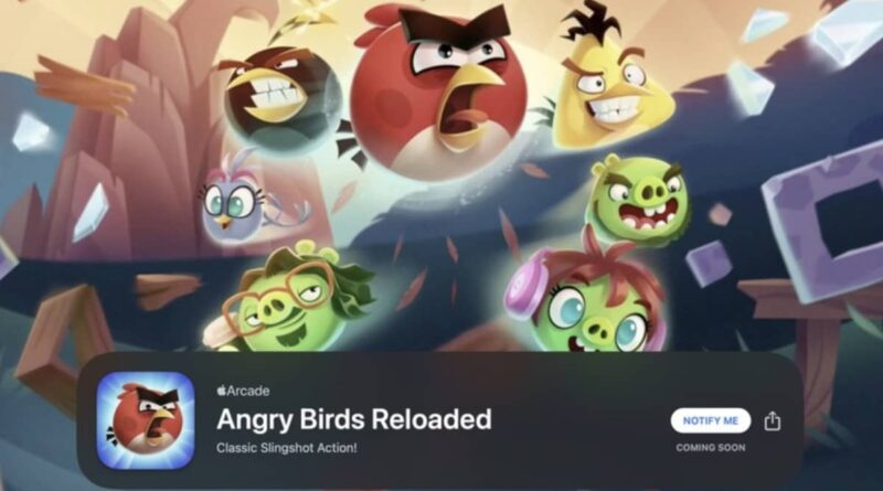 angry birds reloaded apple arcade