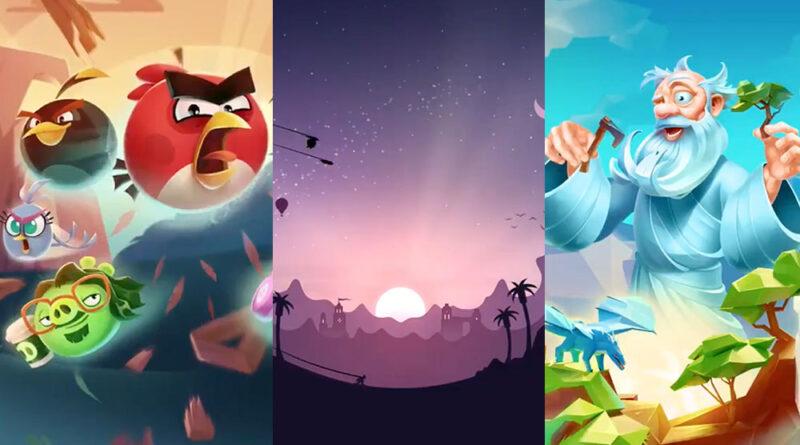 Apple Arcade Angry Birds Alto and Doodle God