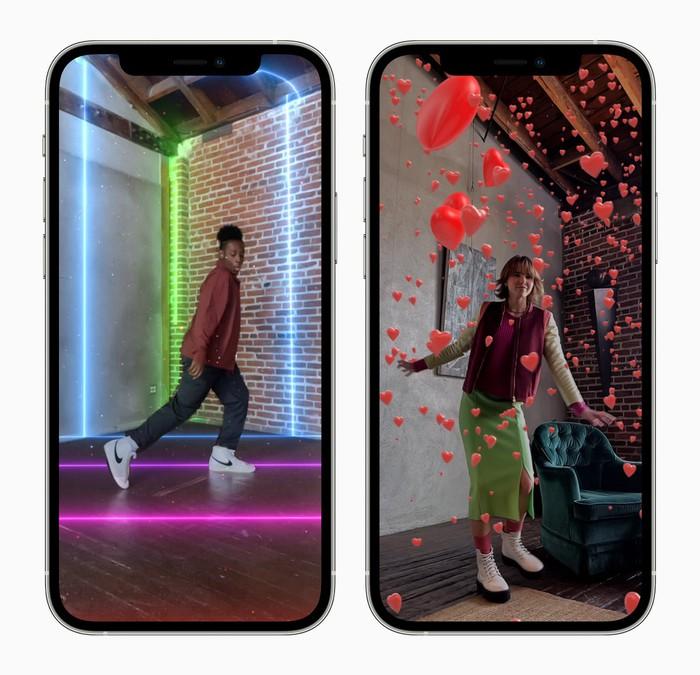 iPhones avec des fonctionnalités de réalité augmentée.