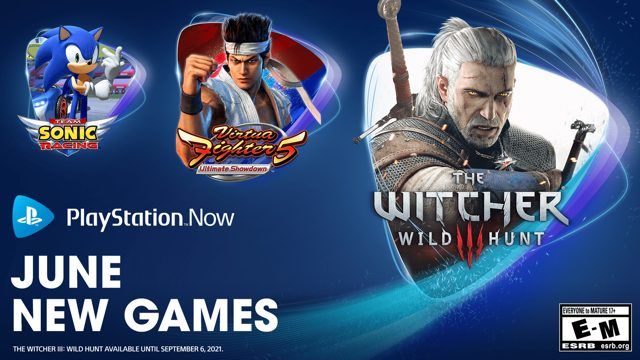 Téléchargements gratuits PlayStation Now juin 2021 : The Witcher 3, Virtua Fighter 5, Slay the Spire