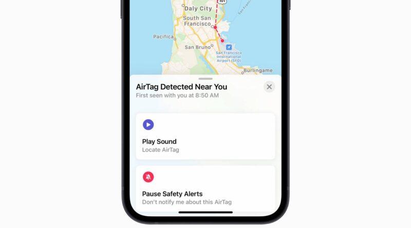 Alerte de confidentialité pour les déclencheurs AirTag inconnus lorsqu'un utilisateur revient à la maison