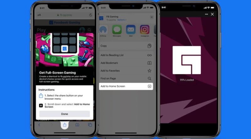 Facebook apporte sa plate-forme de cloud gaming à iOS en utilisant une application Web