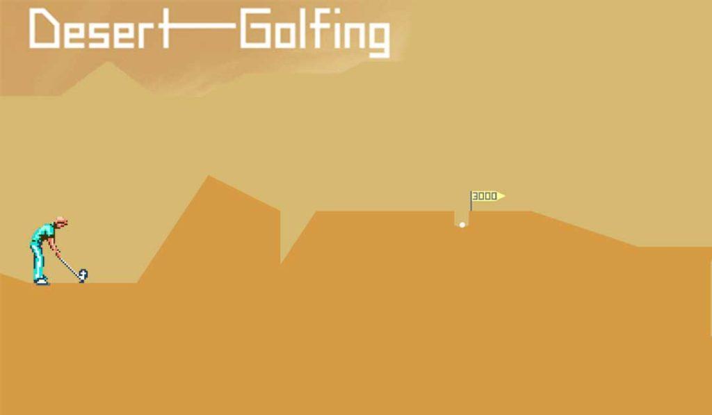 Golf dans le désert