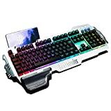 Clavier de jeu RedThunder K900, clavier semi-mécanique rétroéclairé RVB avec repose-poignet, clavier ergonomique hybride filaire USB résistant à l'eau, Teclado Gamer pour ordinateur de bureau PC Mac PS4