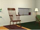 Chambre avec chaise berçante