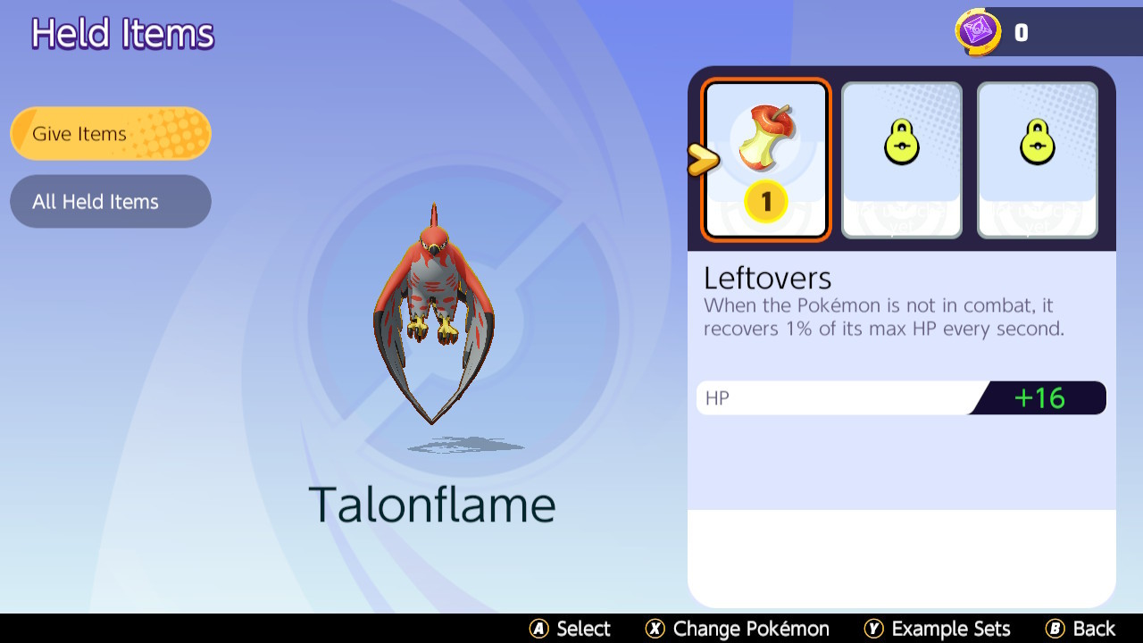 Objets Pokémon Unite