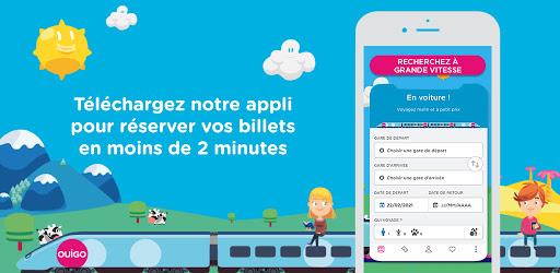 OUIGO – La France à partir de 10€ en TGV 🚄 – Applications sur GooglePlay