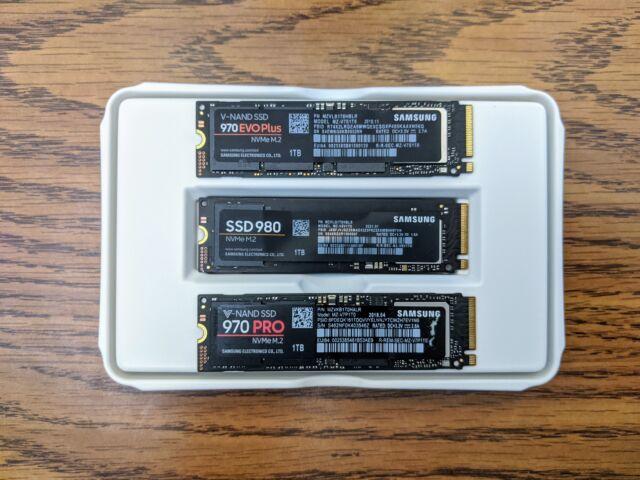 Notre examen a révélé que le SSD 980 de Samsung (milieu) était un disque milieu de gamme solide pour la plupart des consommateurs.
