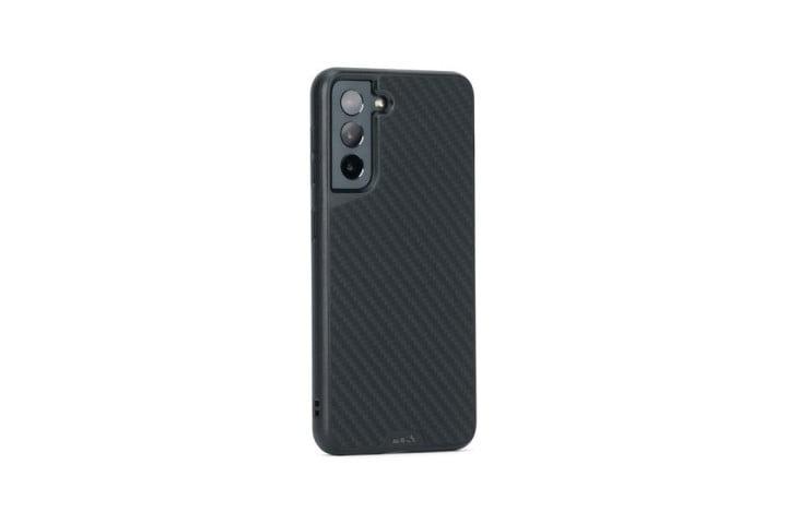 Coque Mous Limitless 3.0 pour Samsung Galaxy S21 en fibre d'aramide noire.