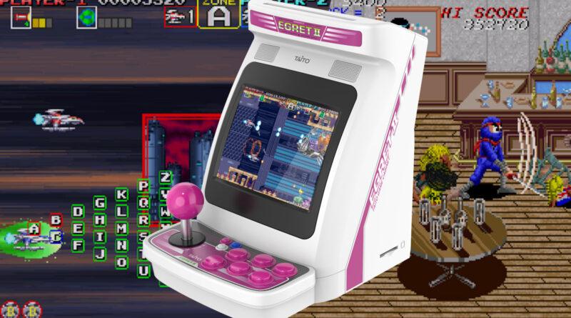 Co-Optimus - Actualités - La gamme complète Taito Egret II Mini Arcade dévoilée, comprend Darius Gaiden et Ninja Kids