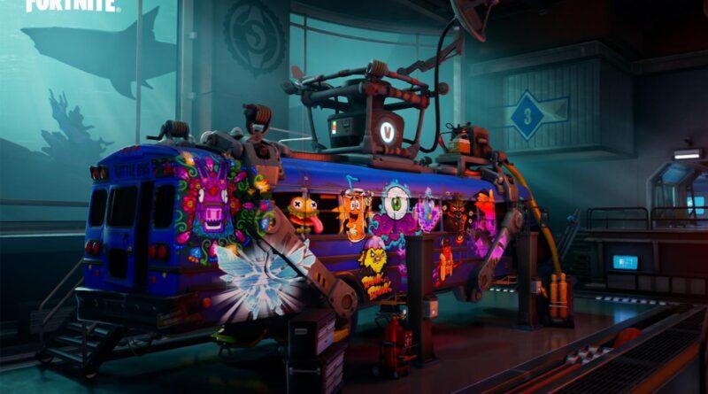 Epic Games Fortnite teaser bus